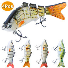 "10 Paddle Tail Keitech Style 3.8"" Swimbait Ribbed Soft Plastic Bass Fishing Lure"