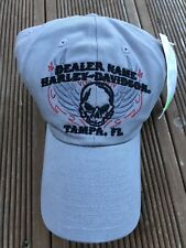 bfdff30f39e HARLEY-DAVIDSON BASEBALL CAP Brand New With Tags Light Grey Skull Motif
