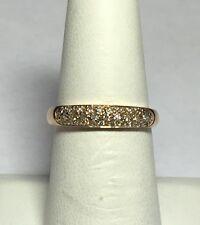 ESTADO VINTAGE OFERTA 18 Quilates Oro Rosa Original single-cut Diamante Mujer