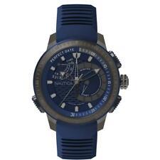 1502685-nautica Orologio Cronografo Quarzo Uomo con Cinturino in Silicone Napcpt