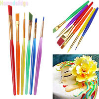 Kits 6PCS Fondant Sugarcraft Brush Cake Cookies Icing Decorating Painting Tools