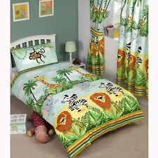 Jungle-tastic Single Duvet Cover Set Lion Elephant Zebra Giraffe