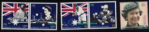 Australia SC1082a,1085a&1079 QueenEliz.II-62ndBirthday-WilliamShakespeare MNH'88