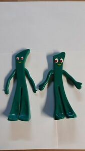 (2) Vintage Gumby Bendy Action Figures 6 inches Jesco brand free shipping