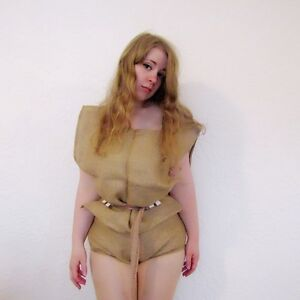Hessian Sissy Punishment underwear, Sack Cloth, Corset, Adult Baby,Maid uniform