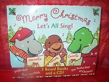 MERRY CHRISTMAS LET'S ALL SING 3 BOARD BOOKS & CD SING ALONG WITH PEGGO & PAUL