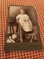 Cabinet card of Darling Baby in Long Gown. Precious collectible!