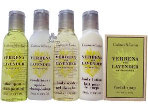 Crabtree & Evelyn Lavender Travel Bath Soap Shampoo Conditioner Body Wash Lotion