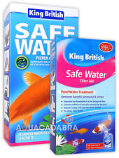 KING BRITISH FILTER AID SAFE WATER POND NITRITE AMMONIA TREATMENT KOI GOLD FISH