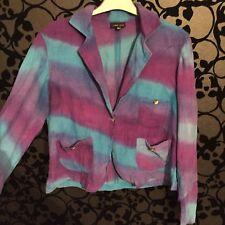 Gringo Purple Halloween Hippy Cotton Cord Blazer Jacket Size M 14/16