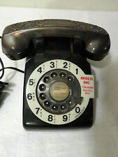 Vintage Bell System Western Electric Black Rotary Phone Owned by Pacific Tel
