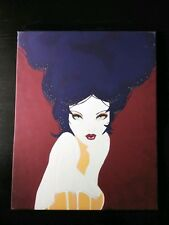 """Hand Painted Acrylic on Canvas Painting 16""""×20"""" Pretty Beautiful Lady Women"""