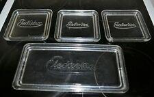 More details for 4 x vintage electrolux glass fridge box lids - lids only