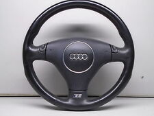 AUDI S6 2002-04 3-SPOKE LEATHER STEERING WHEEL WITH HORN BUTTON 4B0419091CH