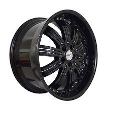 4 GWG Wheels 20 inch Black Inserts NARSIS Rims fits CHEVY MALIBU 2004 - 2012
