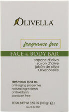 Fragrance Free Face & Body Bar, Olivella, 3.5 oz