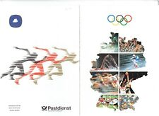 Germany (DDR)  1992 Olympic commemorative booklet with 4 stamps.  CTO in Bonn.