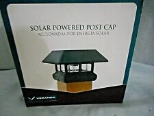 """Solar Powered LED  4"""" x 4"""" BLACK Post Cap Light (Actual: 3-5/8 in. x 3-5/8 in.)"""