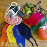 Reusable Fruit Shopping String Grocery Cotton Tote Mesh Woven Net Stroage Bag