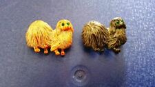 Two (2) Pekingese Brooches