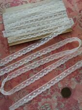 """.25"""" tiny French Antique Lace Valenncia Val Trim 6 yards Dolls insertion cotton"""