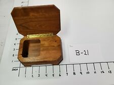 Wood Hand Crafted Music Box*No Music mechanism*Box Only