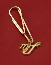 Mezzo Forte, mf, meaning: High Volume, Music Gold Pin Badge, New