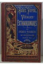 Jules Verne - Les Indes-Noires Le Chancellor Martin Paz. Hetzel reliure Lenègre