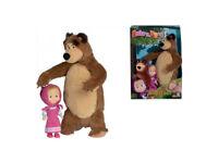 Peluche bambola masha e orso set giocattolo bimbi