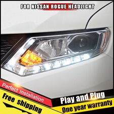 2014-2016 For Nissan Rogue Headlights assembly Bi-Xenon Lens Double Beam HID KIT