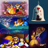 Full Drill 5D DIY Diamond Painting Beauty&The Beast Embroidery Cross Stitch Kit