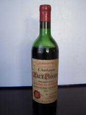 VINS FINS , COLLECTION WINES , CHATEAU HAUT - PONTET GRAND CRU ST EMILION 1967