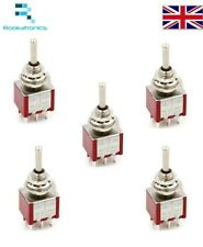 Mini Momentary Toggle Switch DPDT (ON)-OFF-(ON) 6 Pin Non Latching 12V - 250VAC