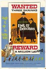 EMIL AND THE DETECTIVES Movie POSTER 27x40 Bryan Russell Walter Slezak Roger