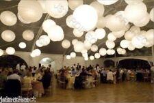 "6"" 10"" 12""14""16""1 8"" Perfect Set to decorate Wedding W/ White Paper Lantern + Led"