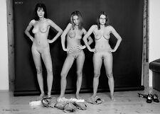 Fine Art Nude 3 Models, signed b&w photo by Craig Morey: KarinLucyNela 3678BW
