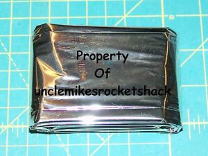 """Parachute Material Sheet Mylar 53""""x 84"""" Silver Colored"""