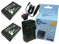 2x Battery +Charger +Car Plug +EU Adapter for Canon 100D