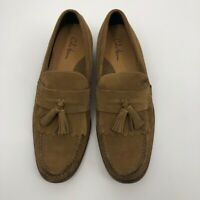 Cole Haan Mens Air Delancy Shawl Loafers Brown Moc Toe Tassel Slip On Shoes 10 M