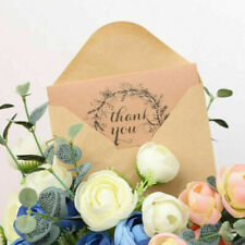50pcs Rustic Brown Recycled Wedding Party Thank You Kraft Cards W/ Envelops