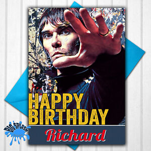 Ian Brown Stone Roses Personalised Birthday Card Any Name or Relative