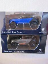 Peugeot Concept Car Quartz silber/ blau 2 Stück