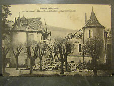 cpa 68 thann chateau bindschedler bombardé guerre 1914 1916