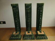 6 TEILE:ANTIKER KACHELOFEN:3x OFENGESIMS OFENFUß,3x STEITENTEILE STEHER,RELIEF