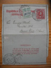 Uruguay 1920 PS Stationery Letter Card from Montevideo to Buenos Aires