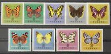 - Polen Poland 1967 Mi. Nr. 1797-1805 ** postfrisch MNH Schmetterlinge butterfly