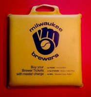 1980's MILWAUKEE BREWERS Seat Cushion MLB Baseball SGA Vtg County Stadium 80's