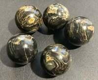 Bulk Wholesale Lot 5 Pcs - Stromatolite Balls Spheres Tumbled Polished Stones