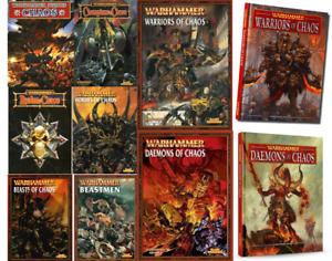 Chaos, Warriors, Beastmen, Daemons Warhammer Army Books, various select - OOP