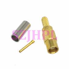 1pce Connector MCX female jack crimp RG174 RG316 LMR100 cable straight
